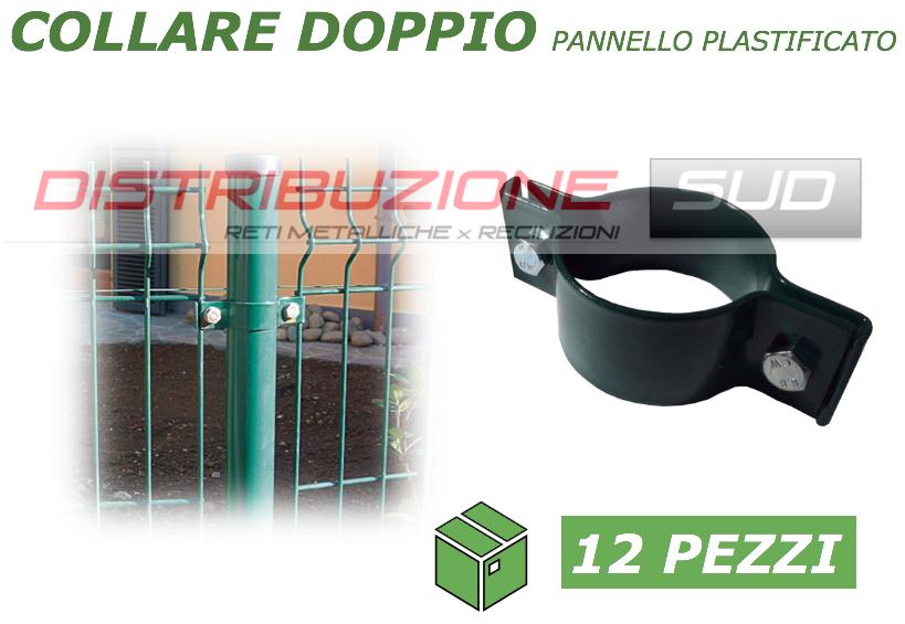 Collare doppio plastificato per pannelli rigidi plastificati