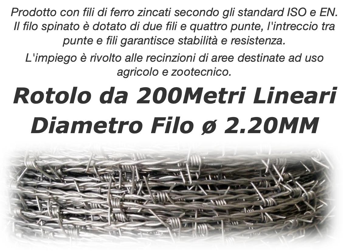 Filo Spinato con diametro filo 2.40mm