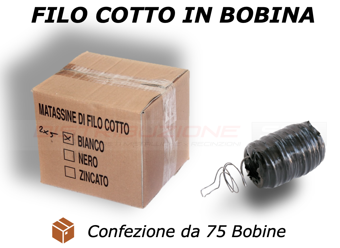 filo cotto in bobina