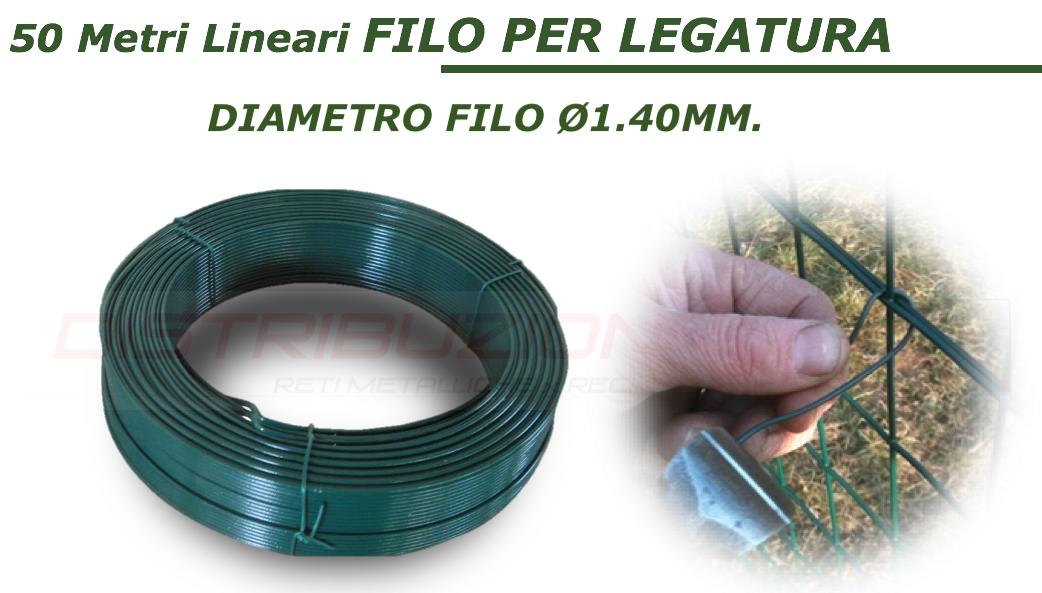 Filo verde plastificato in ferro