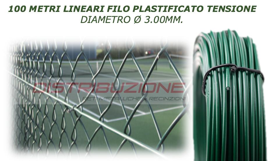 Rotolo da 100Metri lineari di filo plastificato per tensione diametro 3MM
