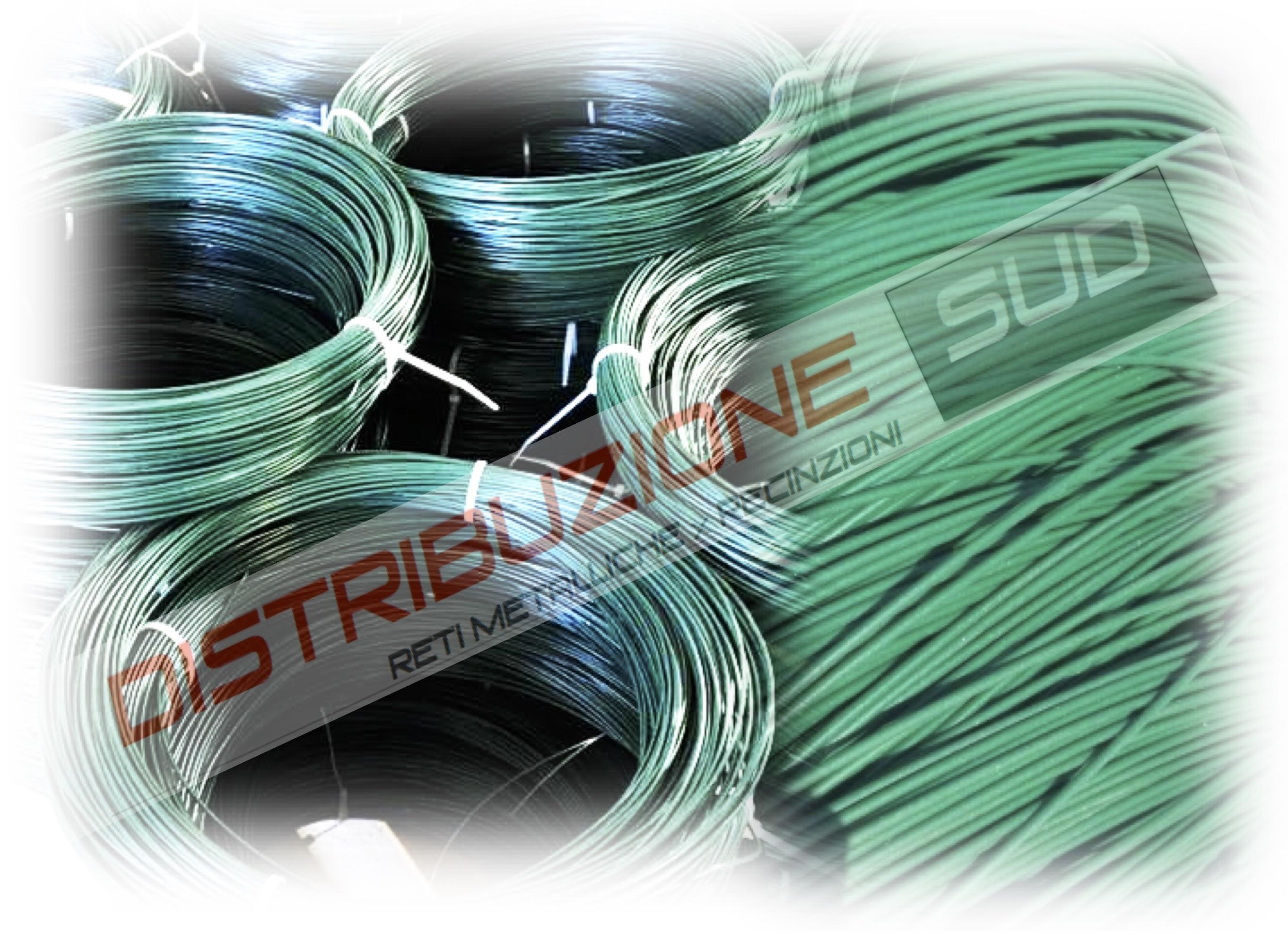 Rotolo da 100metri di filo plastificato per tensione rete