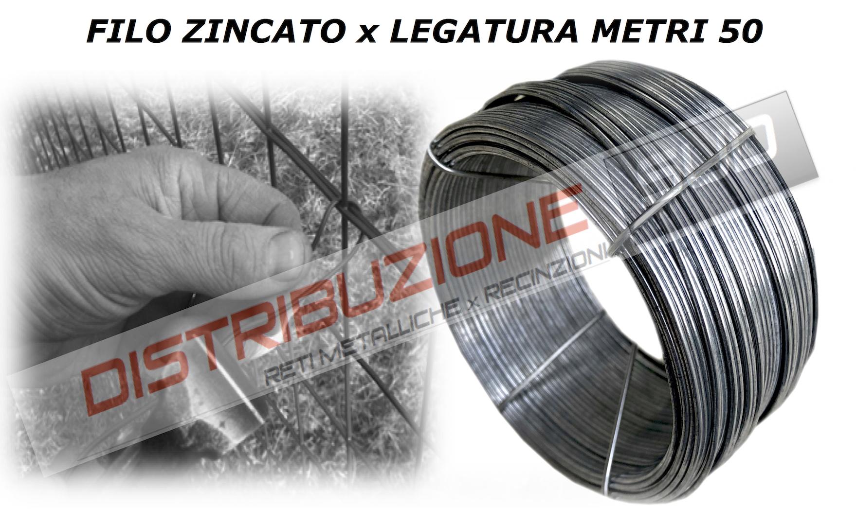 Confezione da 50Metri Lineari filo liscio legatura