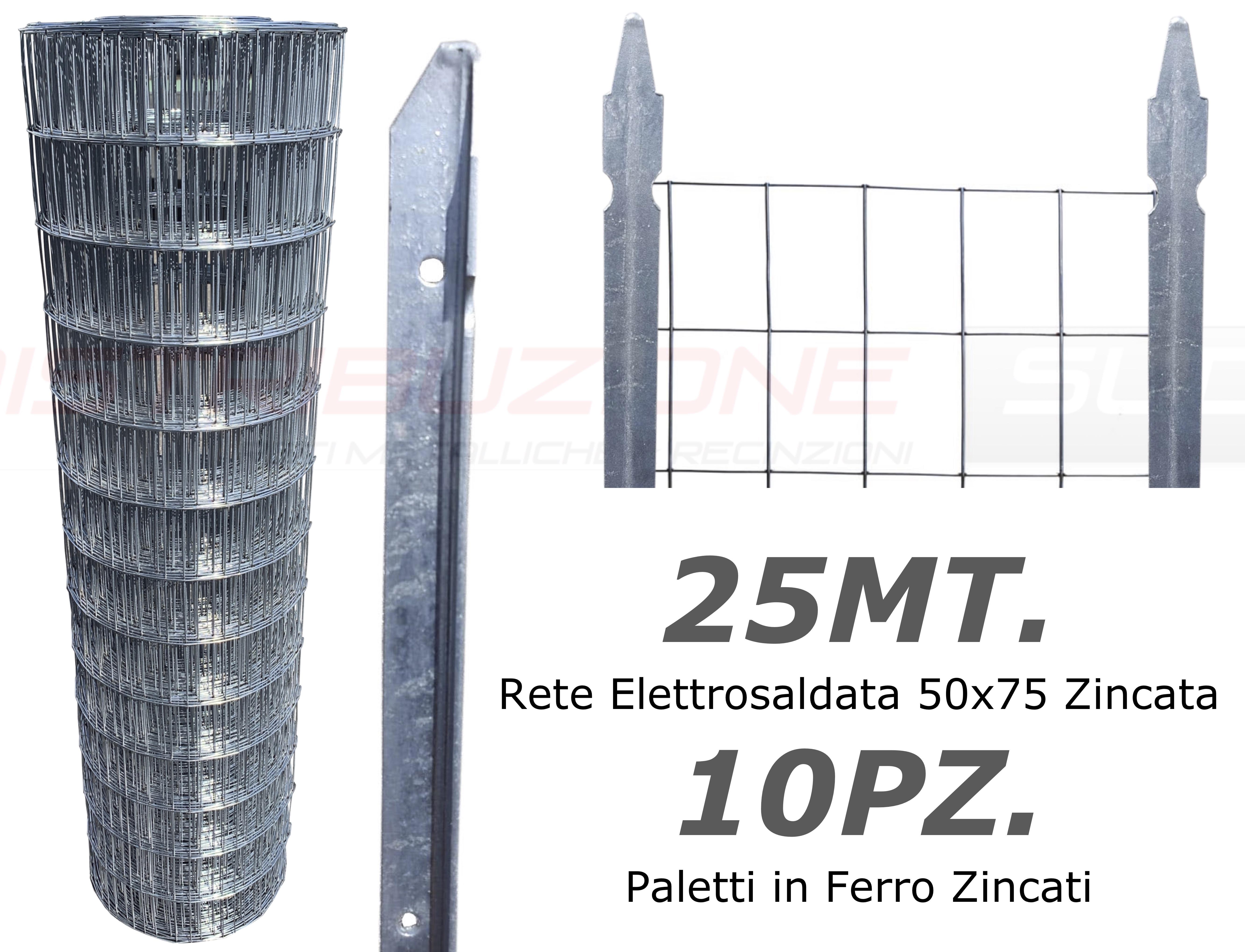 Rete zincata con pali zincati