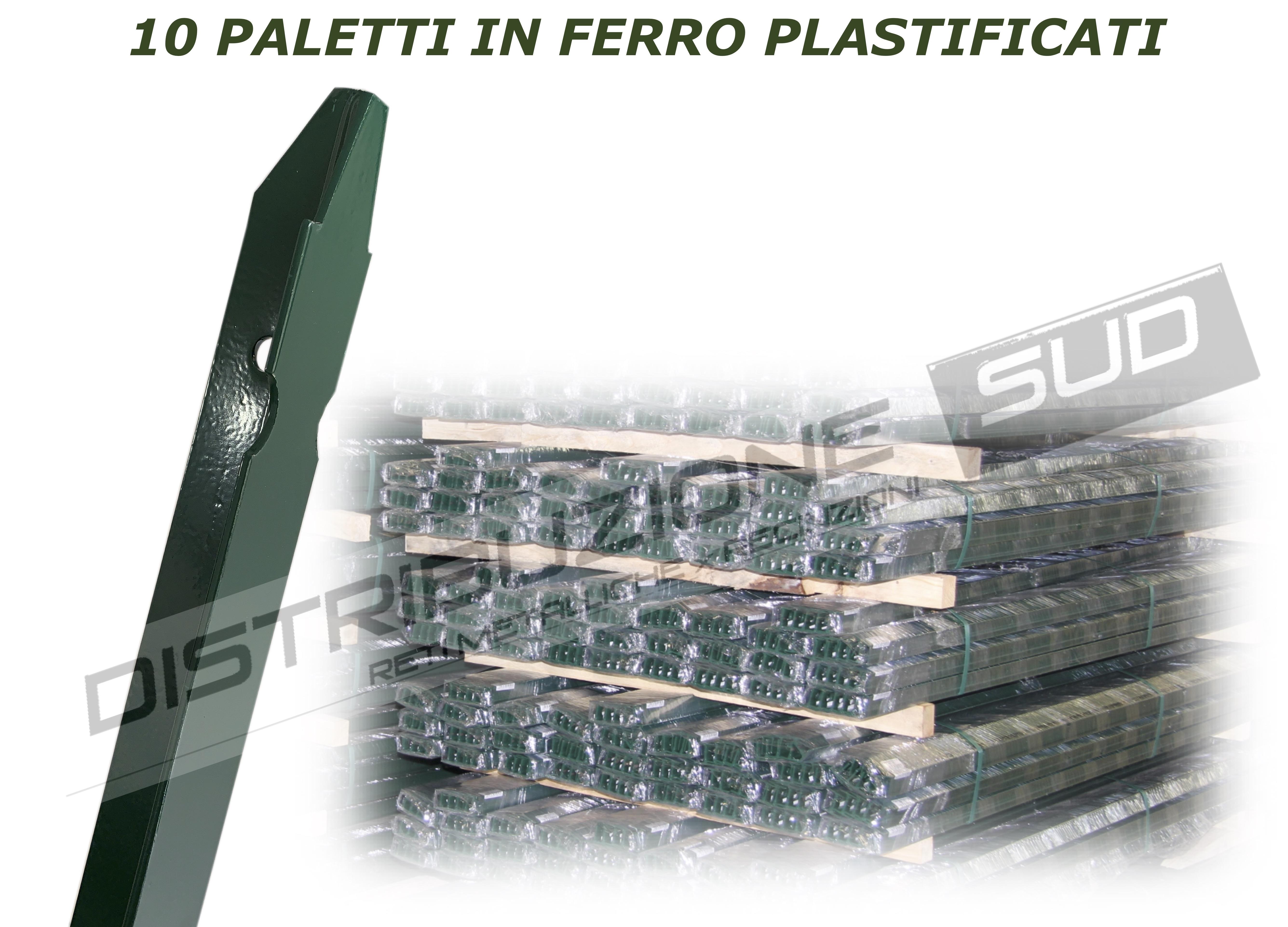 pali plastificati verdi