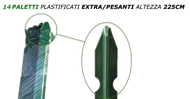 14 paletti plastificati extra/pesanti