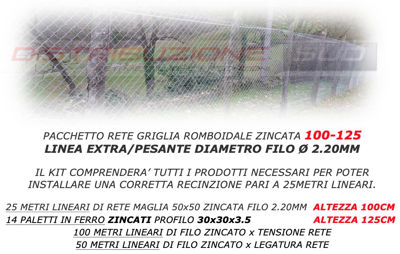 recinzione per 25 metri lineari