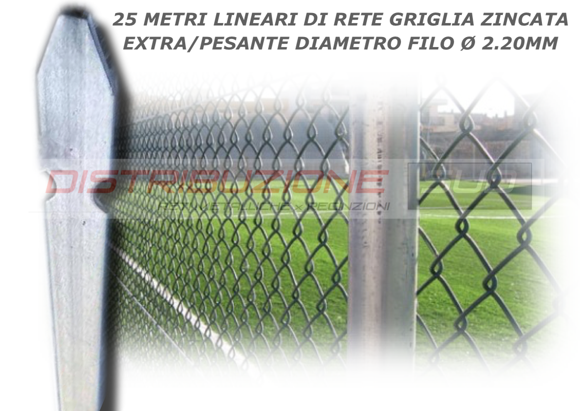 25 metri lineari di rete griglia