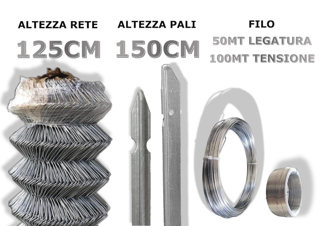 kit griglia 125-150cm