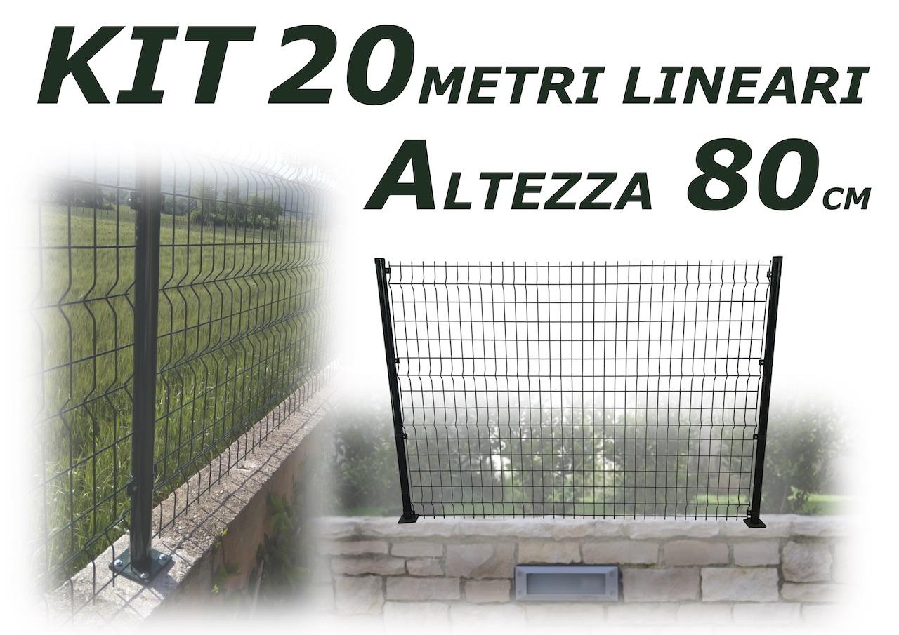 kit valido per 20 metri con piastre pali