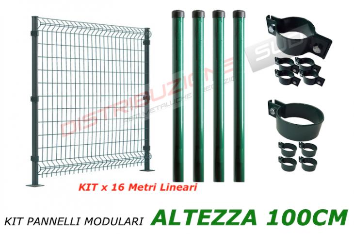 kit pannello senza supporto palo x 16 metri lineari