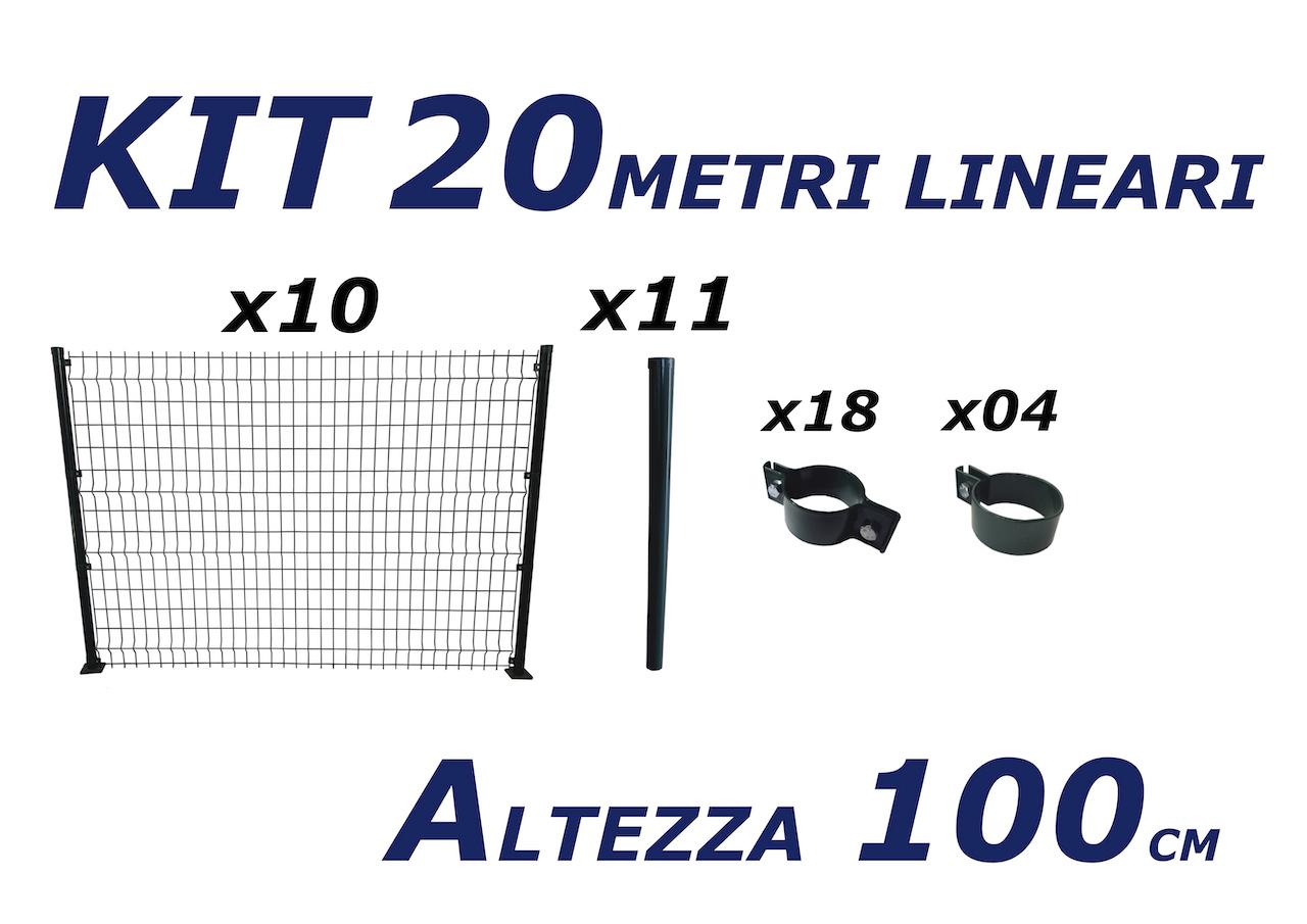 kit recinzione plastificata 20 metri