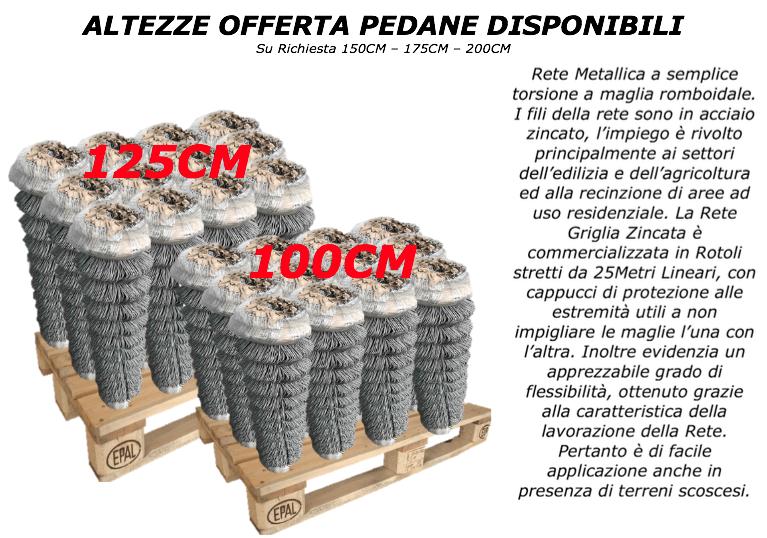 Altezza 100-125cm a semplice torsione a maglia romboidale