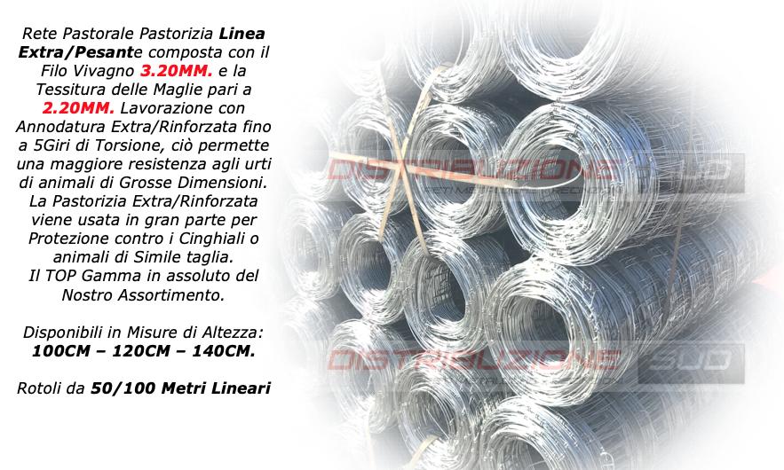 I fili verticali ed orizzontali della rete sono in acciaio a forte zincatura.