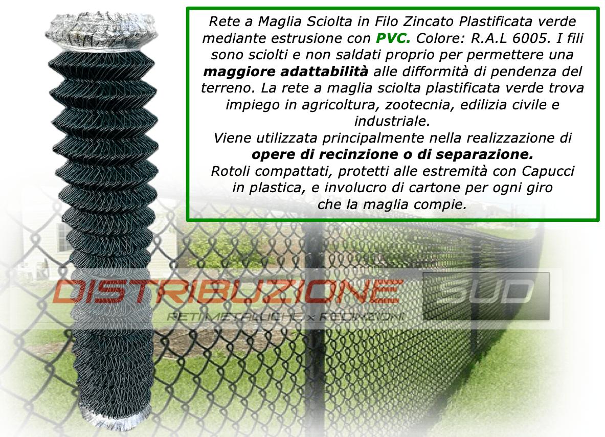 rete griglia plasticata mediante estrusione con PVC