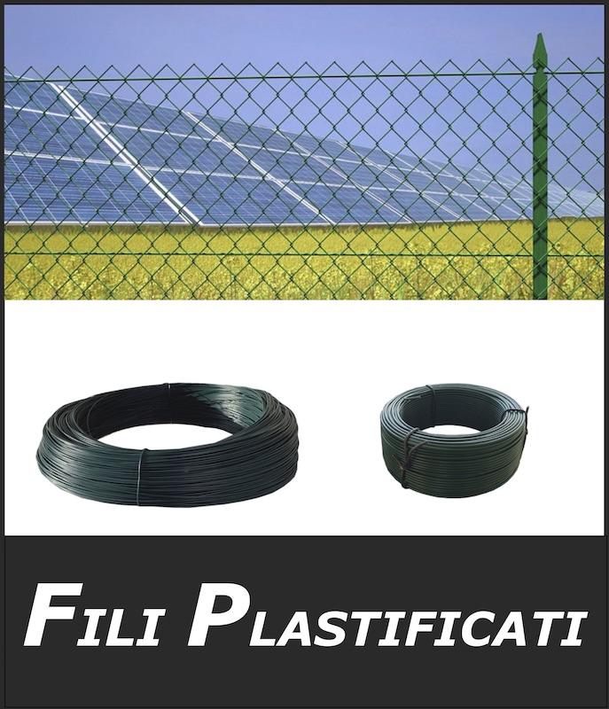filo verde plastificato per tensionamento reti metalliche per recinzioni