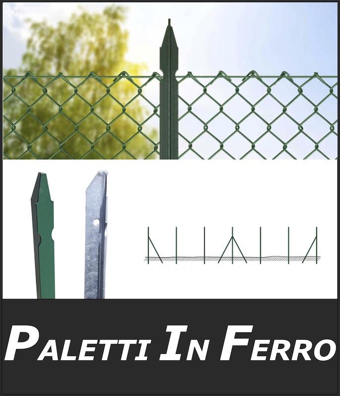 paletti in ferro per reti metalliche per recinzioni