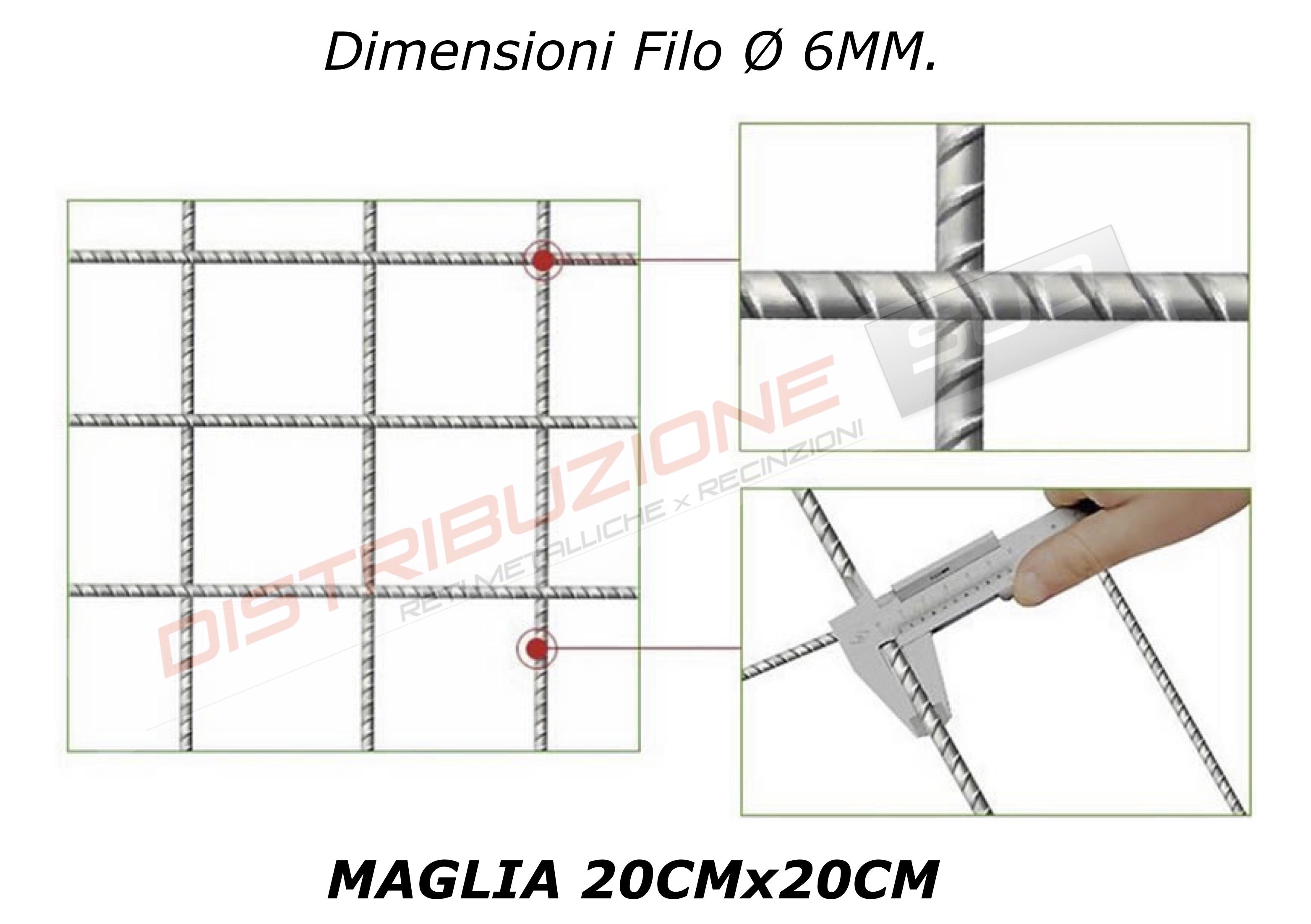 maglia 2x2 filo 6mm
