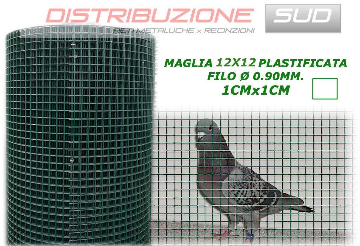 Rete maglia 12x12 plastificata filo 0.90mm