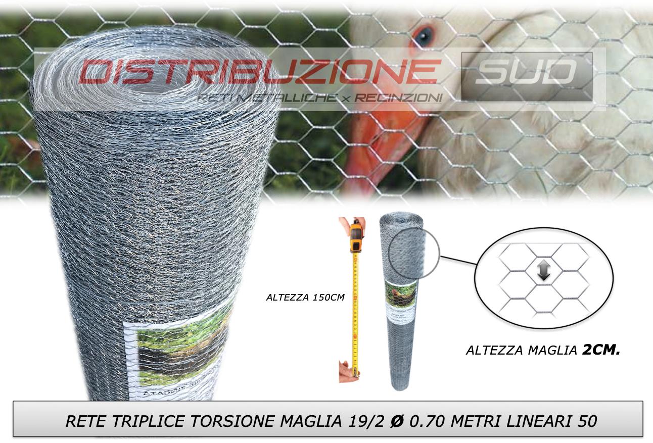 rete 19/2 filo 0.70mm recinzione gabbie