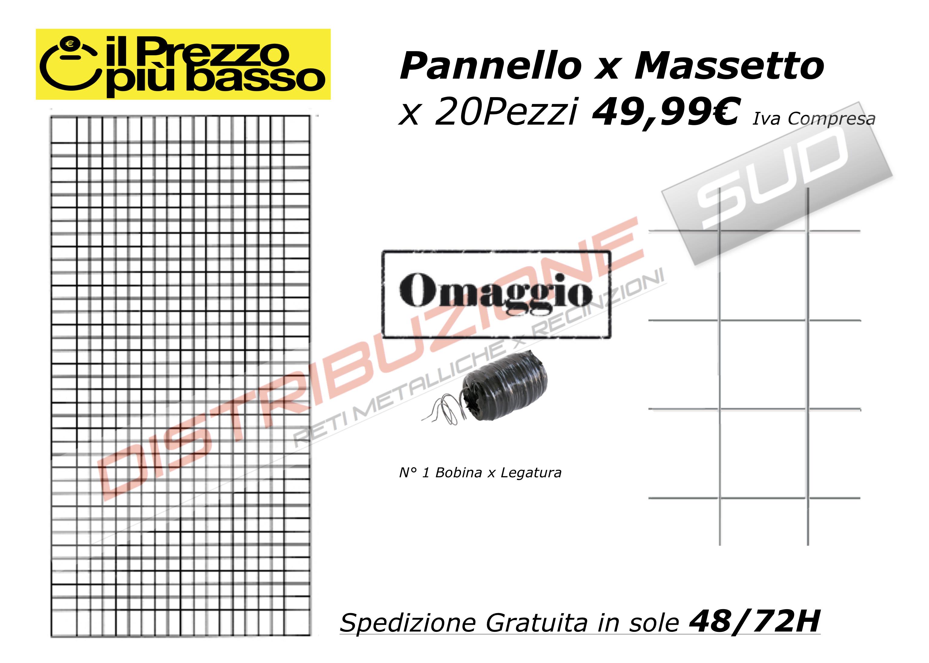 Pannello x Massetto 20 pezzi