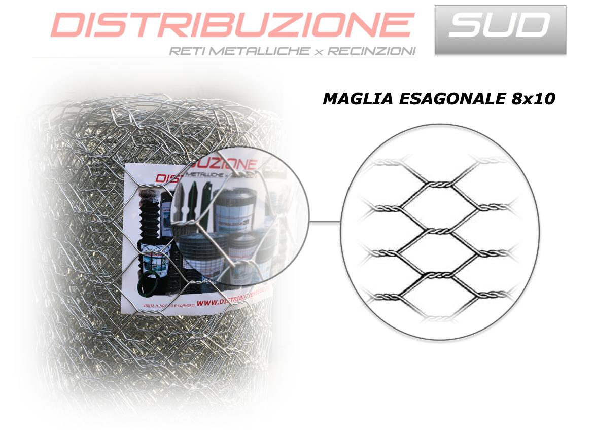 Rete Paramassi Tripla Zincatura Maglia Esagonale 8x10