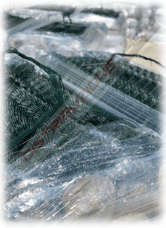 Dettaglio rete griglia plastificata verde