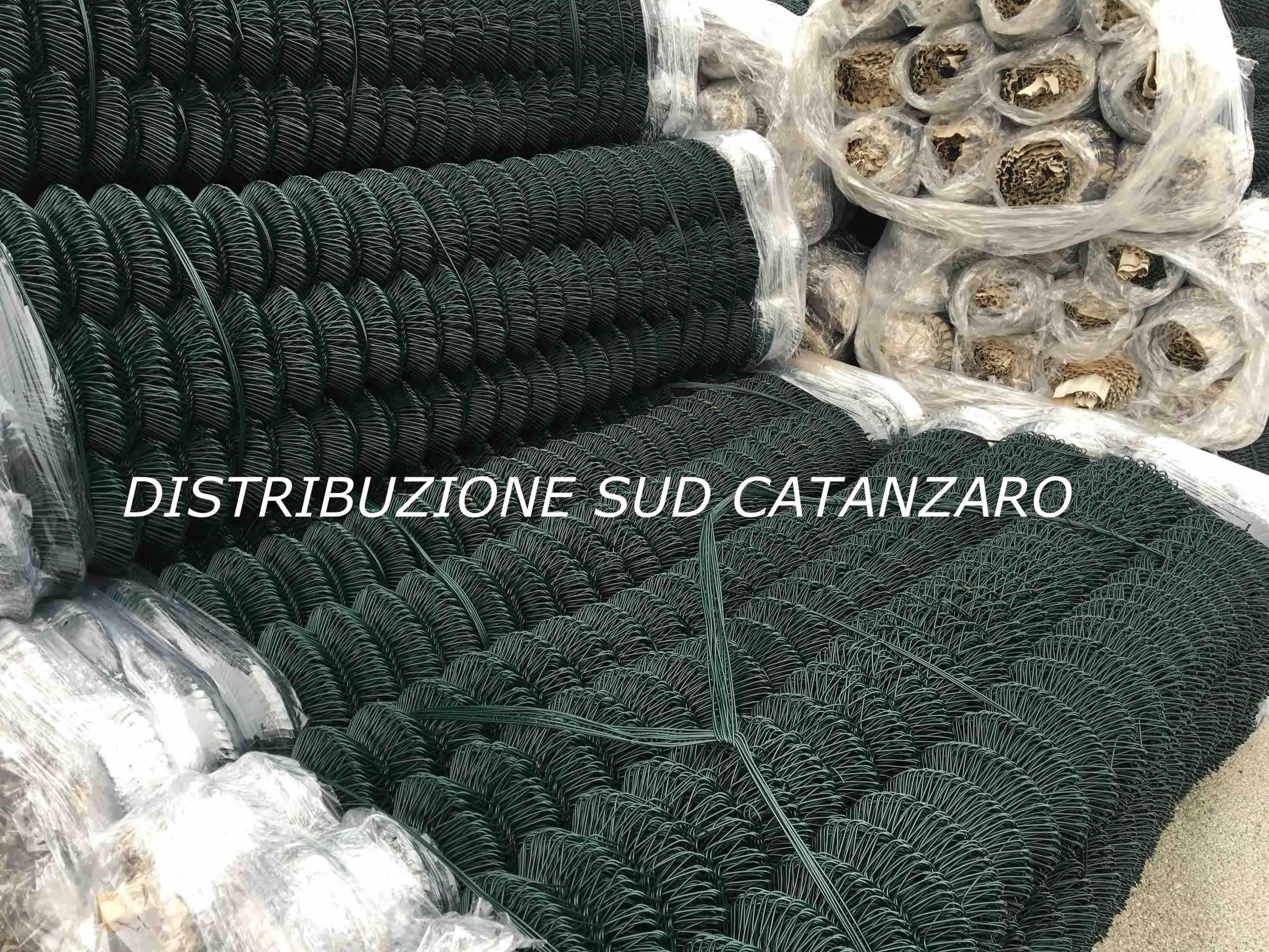 rete griglia verde a maglia sciolta
