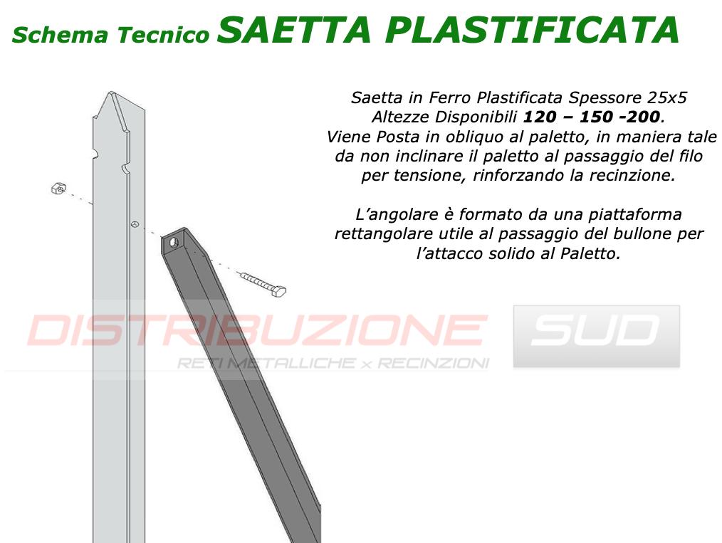 Saetta in Ferro Plastificata Spessore 25x5