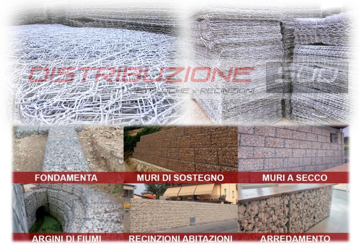 gabbione per fondamenta muri di sostegno muri a secco